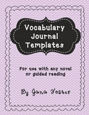 Vocabulary Journal Template