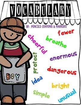 Vocabulary Journal Templates for Literacy Centers