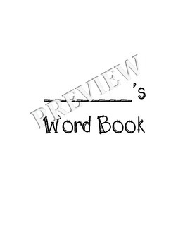 Vocabulary Journal / Word Book