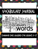Generic Vocabulary Worksheet for Grades 6-8
