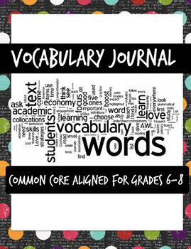 Generic Vocabulary Worksheet for Grades 6-8