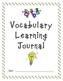 Vocabulary Journal for Any Subject or All Subjects