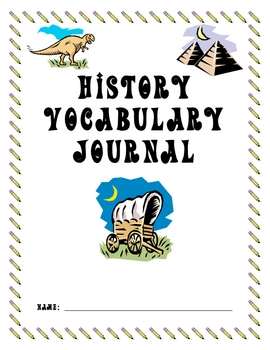 Vocabulary Journal for History or Social Studies
