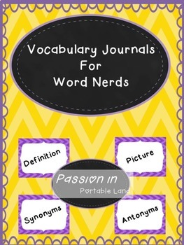 Vocabulary Journal for Word Nerds