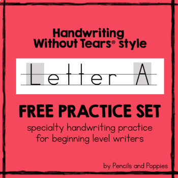 "FREE Handwriting Without Tears ""Letter A"" practice worksheets - authentic HWT"