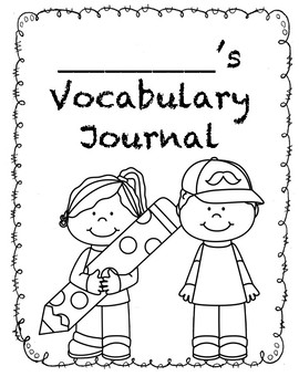 Vocabulary Journal with Frayer Boxes