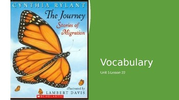 Vocabulary Journeys Unit 5 Lesson 22 The Journey Stories of Migration