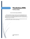 Vocabulary KWL Chart