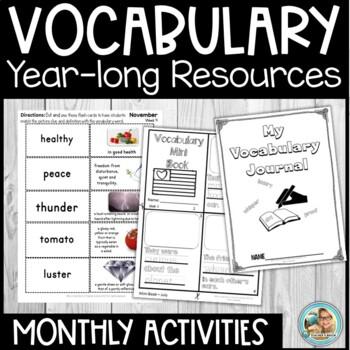 Vocabulary Activities Kindergarten - 3rd YEARLONG Reading Blocks Program