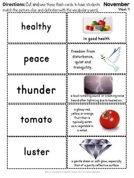 Vocabulary Activities Kindergarten, 1st grade, 2nd and 3rd grade