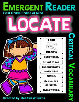 Academic Vocabulary LOCATE categories