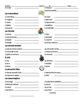 Spanish Vocabulary School / La Escuela