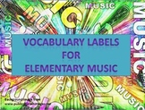 Vocabulary Labels for Music
