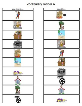 Vocabulary Ladder: Places Around Town in French