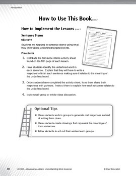 Vocabulary Ladders--Understanding Word Nuances Level 3 (eBook)