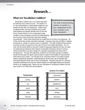 Vocabulary Ladders--Understanding Word Nuances Level 4