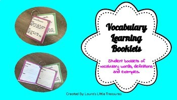 Vocabulary Learning Booklets