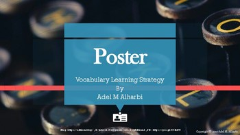 Interactive Vocabulary Strategy Wall Poster