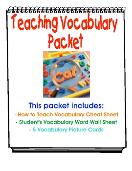 Vocabulary Lesson Cheat Sheet and More!