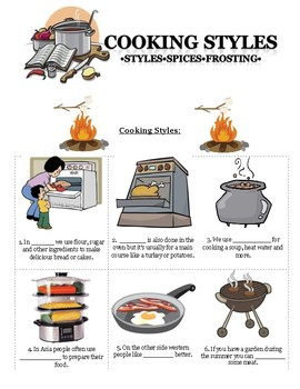 Vocabulary Lesson - Cooking, Frosting, Spices