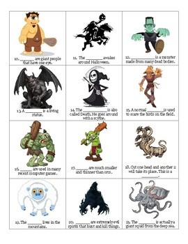 Vocabulary Lesson - Monsters