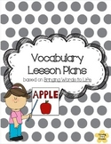 Vocabulary Lesson Plan Template based on Bringing Words to Life