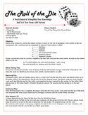 Vocabulary Lesson Review Game - The Roll of the Die