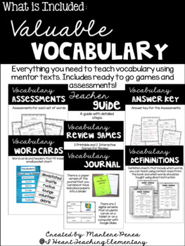 Vocabulary Lessons Using Picture Books- Valuable Vocabular
