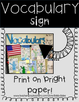 Vocabulary Letters