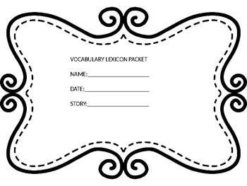 Vocabulary Lexicon Graphic Organizer
