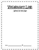Vocabulary Log- Word of the Day