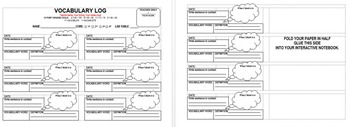 Vocabulary Log (for Interactive Notebooks)