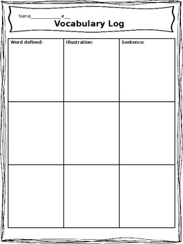 Vocabulary Log-ig boxes