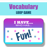 Vocabulary Loop Game - Active Fun for Middle / High School