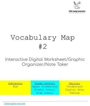 Vocabulary Map #2 Interactive Digital Worksheet
