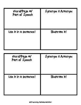 Vocabulary Mapping Booklet