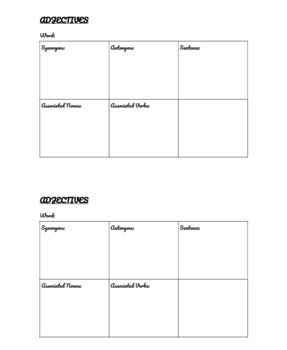 Vocabulary Mapping by Semantic Features Template
