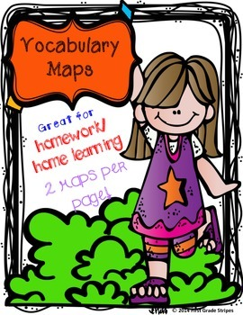 Vocabulary Maps - 2 per page