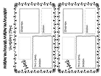 Vocabulary Maps - 3 Graphic Organizers