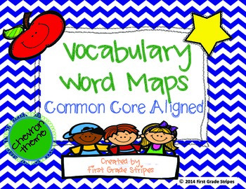 Vocabulary Maps Chevron Theme by First Grade Stripes | TpT on