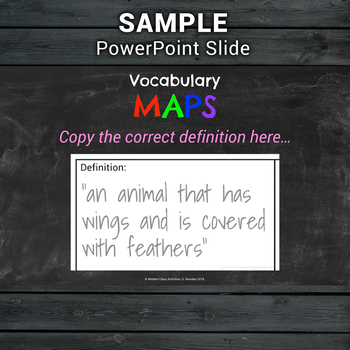 Vocabulary Maps — Frayer Model Template — Graphic Organizer & PowerPoint