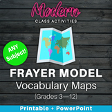 Vocabulary Maps — Frayer Model Template — Graphic Organize