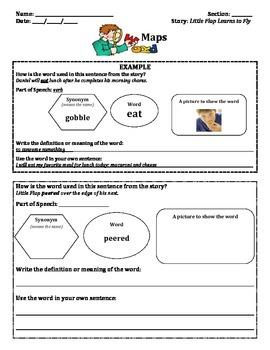 Vocabulary Maps-Unit 1 (MacGraw Hill Wonders 2nd Grade Series)