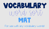 Vocabulary Mat Activity