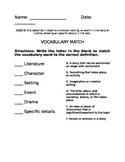 Vocabulary Match - Standard 4.3 - FREEBIE