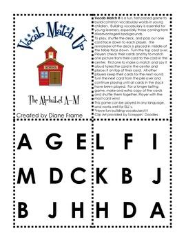 Vocabulary Match Up - Alphabet A-M