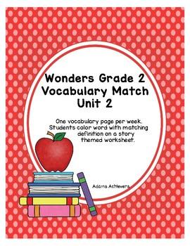 Vocabulary Match Wonders Grade 2 Unit 2