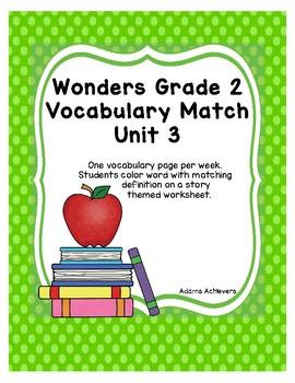 Vocabulary Match Wonders Grade 2 Unit 3