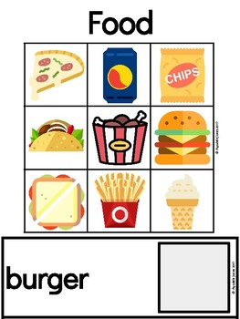 Vocabulary Activity- Match Word-Icon with Emergent Readers and AAC Users