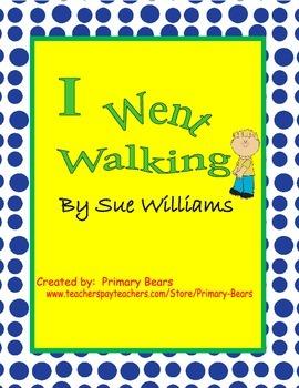I Went Walking Vocabulary Matching Game